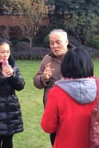 赵国斌老师与学员说戏